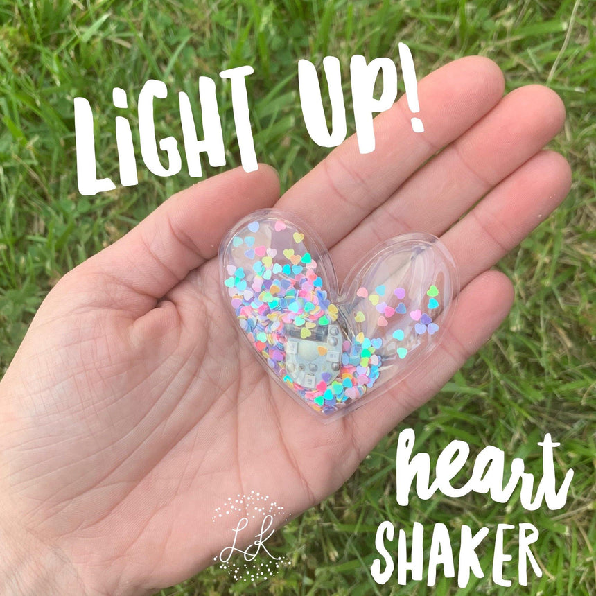 Light Up Heart Shakers - LizKSupplyCo