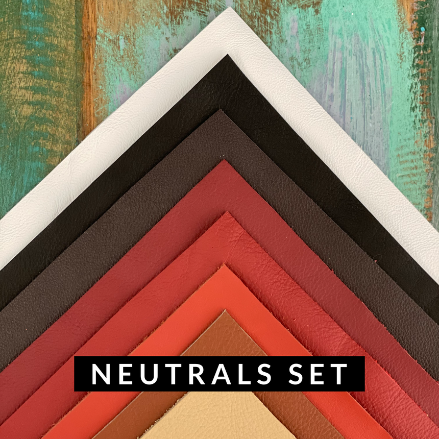 Leather - Neutrals Pack of 8