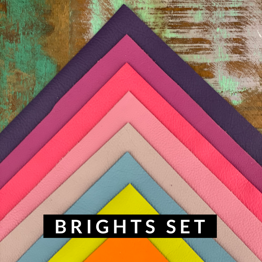 Leather - Brights Pack of 8