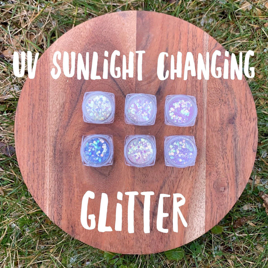 UV Color Changing Glitter- 6 pack - LizKSupplyCo
