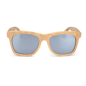 THE MOANA - Natural Wooden Engraved Square Polarized Sunglasses