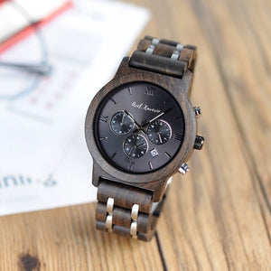 MIDNIGHT SUN - 3 in 1 Luxury Wooden Watch