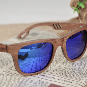THE SHARK - Original Design Shark Bite Polarized Wooden Sunglasses