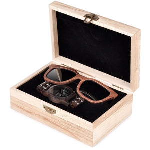 COMBO 2-IN-1 (Midnight Sun Watch + The Walnut Sunglasses)