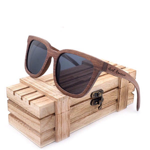 THE WALNUT - Black Walnut Wood Polarized Sunglasses
