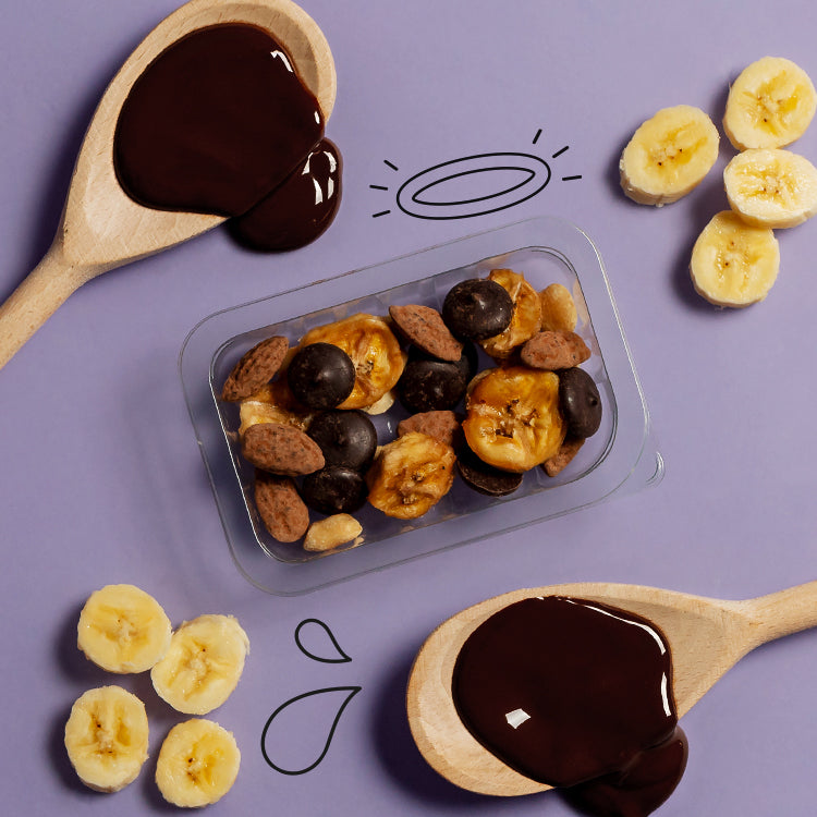 banana & peanut dark choccy wonders multipack