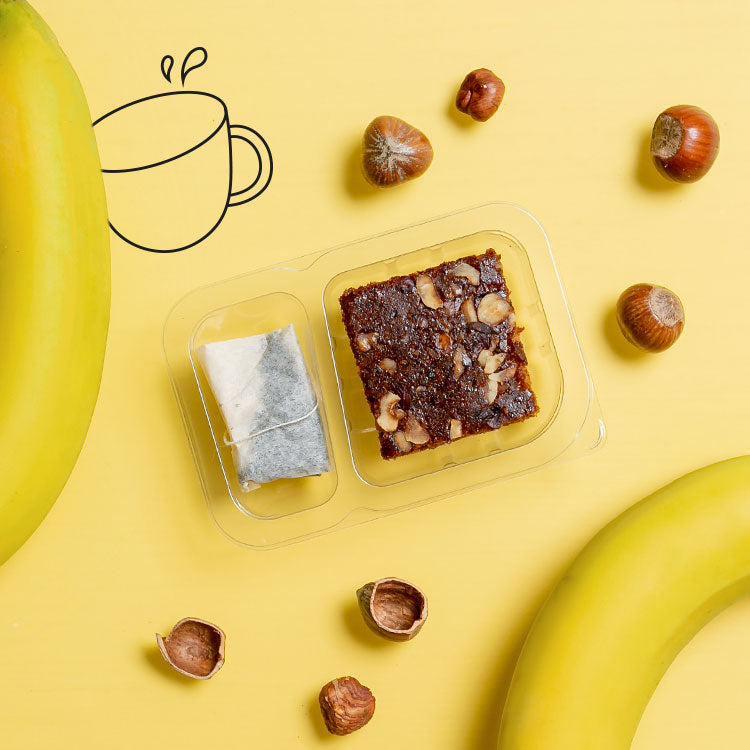 banana cake with an afternoon infusion multipack