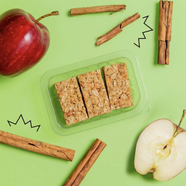 graze apple and cinnamon flapjack multipack