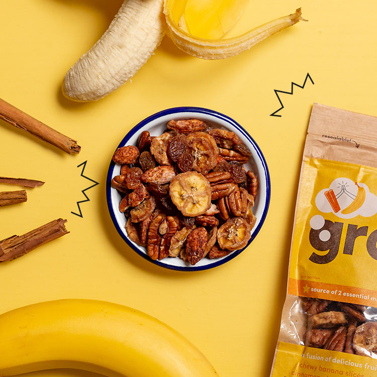 graze banana and cinnamon fruit fusions bag