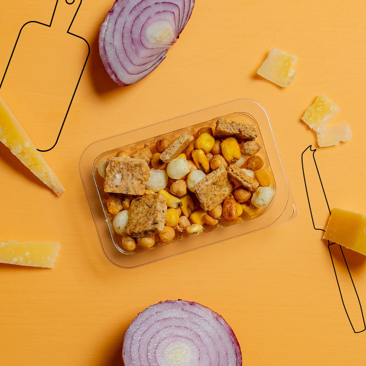 graze cheddar and red onion veg cruncher multipack