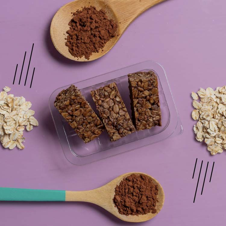 graze cocoa and vanilla protein flapjack multipack