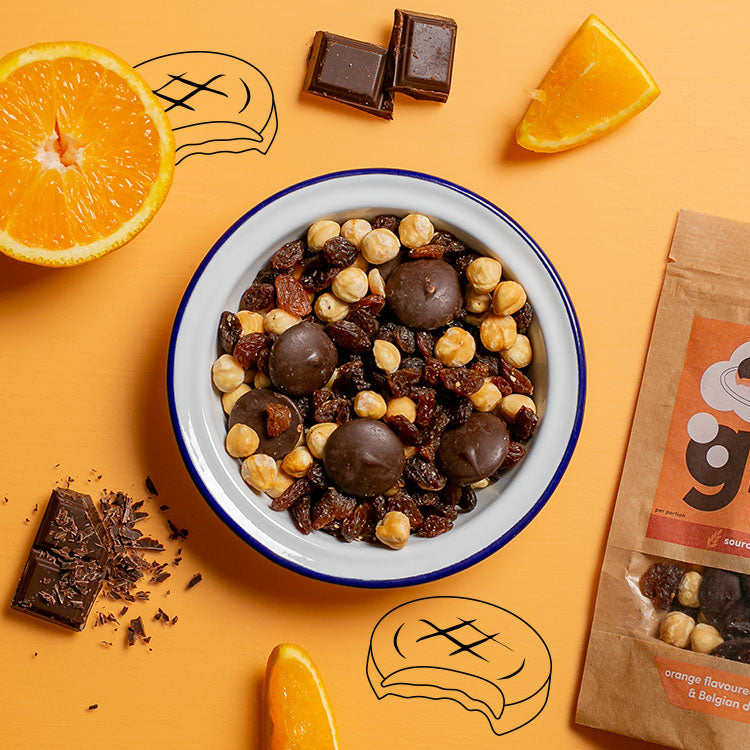 graze our version of jaffa cake sharing bag