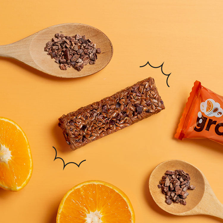 orange and dark cacao oat millionaire bar x 9