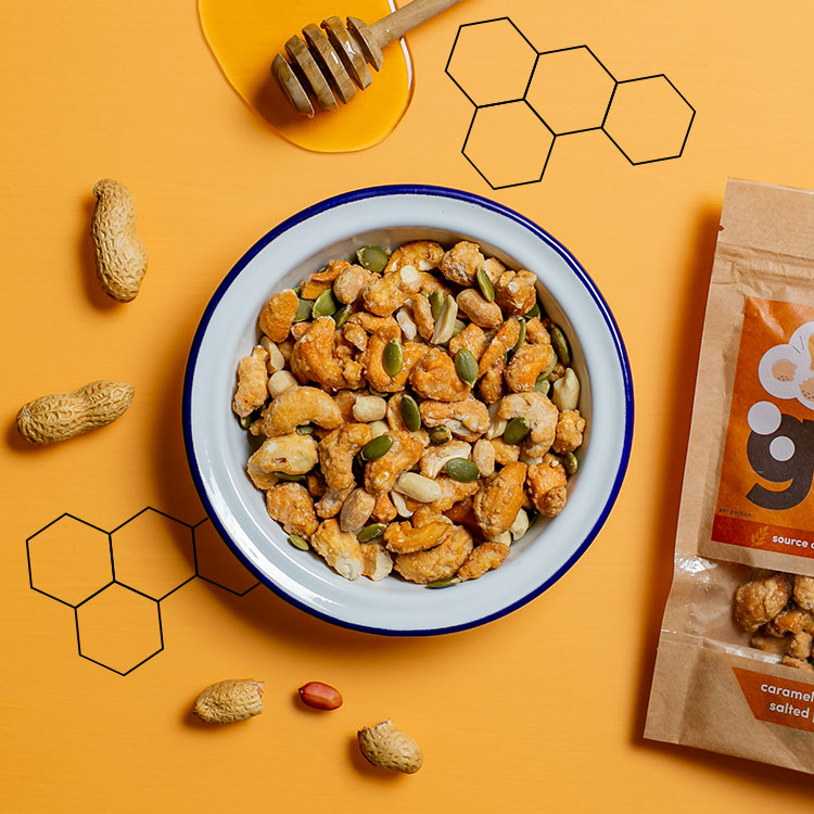 graze wholesome honey nuts sharing bag