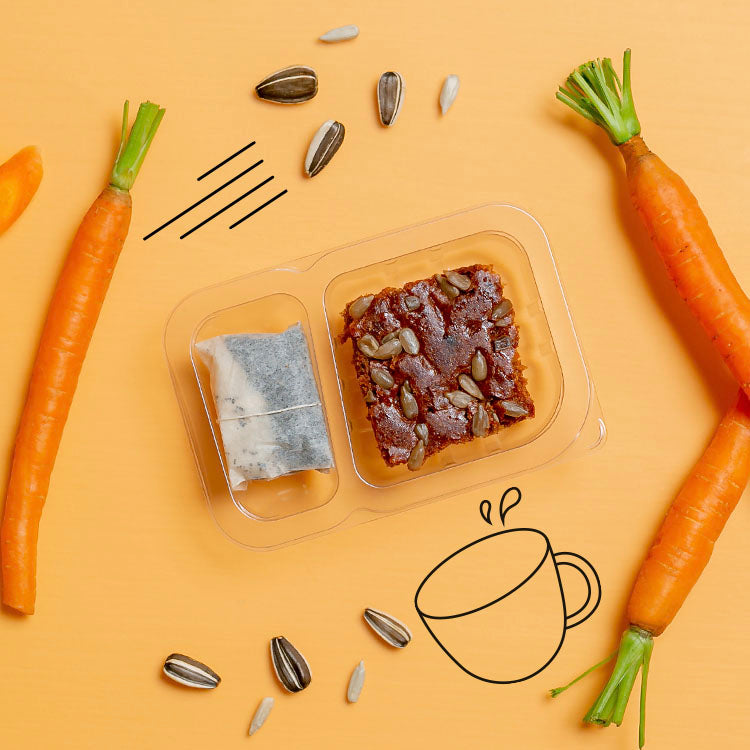 graze carrot cake with an afternoon infusion multipack