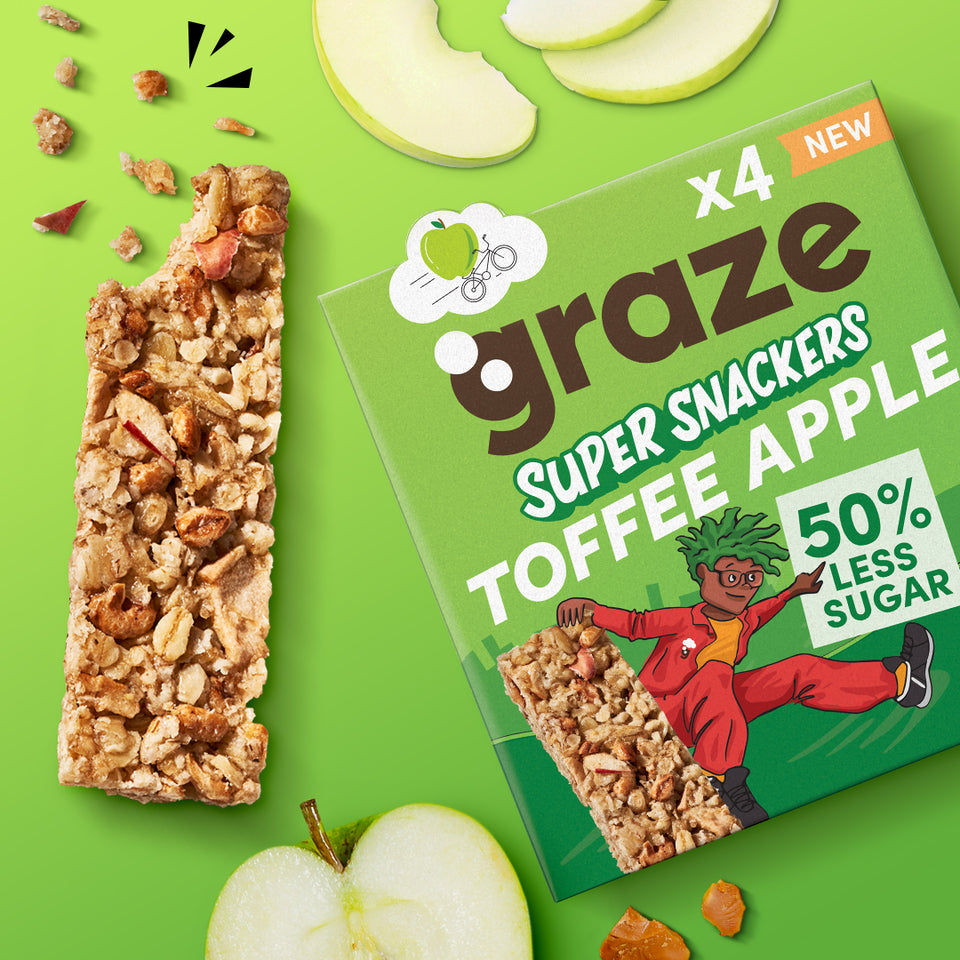 toffee apple super snackers bars