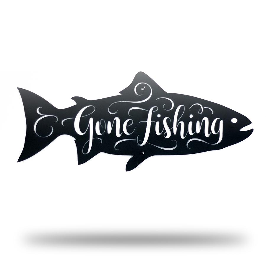 Gone Fishing - Fish Shape