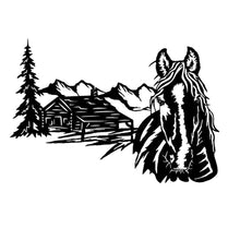 Load image into Gallery viewer, Horse Cabin Scene