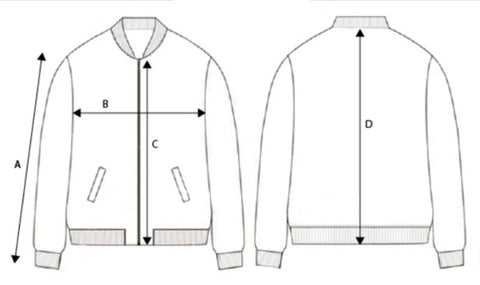 medidas chaquete bomber