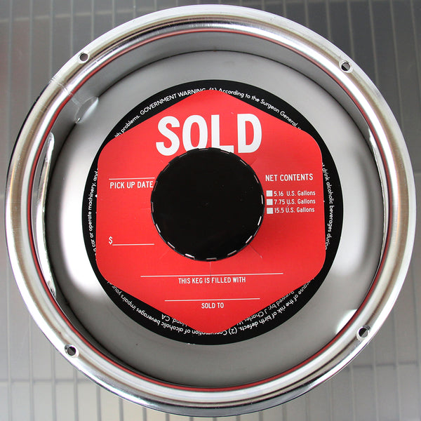 Red SOLD Hexagon Keg Collars