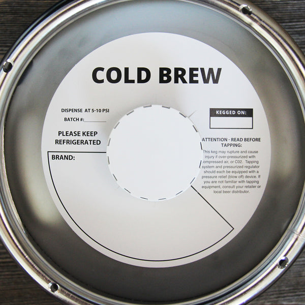 White Cold Brew Bold Keg Collars