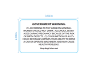 2'' x 3.5'' Surgeon General Label by KegCollars.net