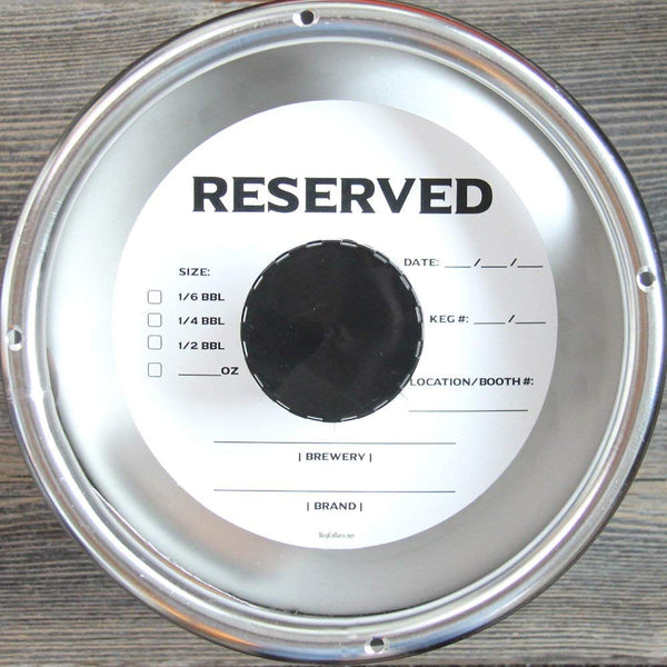 White Reserved Keg Collars