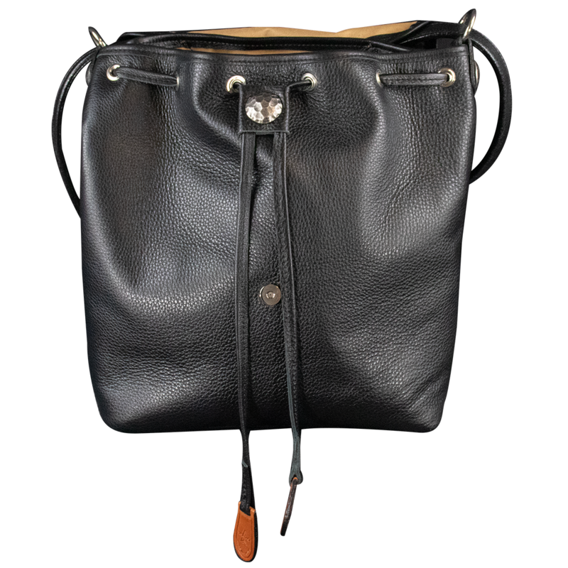 AB_Black Leather Open Front