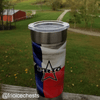 Frio 24-7 Cup w/ Bottle Opener and 3M Vinyl Wrap- Texas Flag