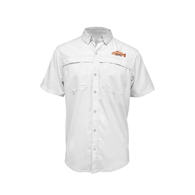 Short Sleeve Performance Fishing Shirt w/ Join CCA Redfish Badge