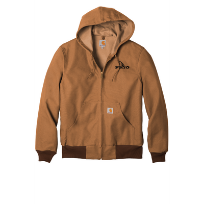 Carhartt ® Thermal-Lined Duck Active Jacket - Embroidered Frio Redfish Logo