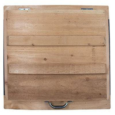 Cedar Cooler w/ Custom Aluminum Front Panel - Frio Ice Chests