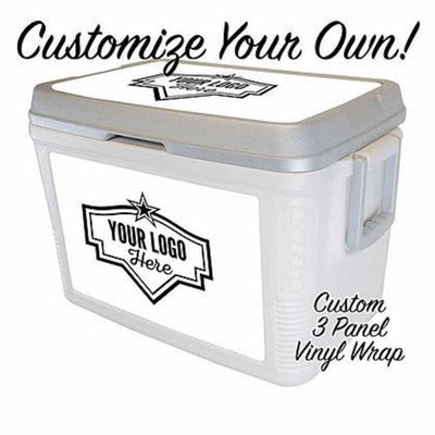 Custom Label Series 48Qt w/ 3 Panel Customization - Frio Ice Chests