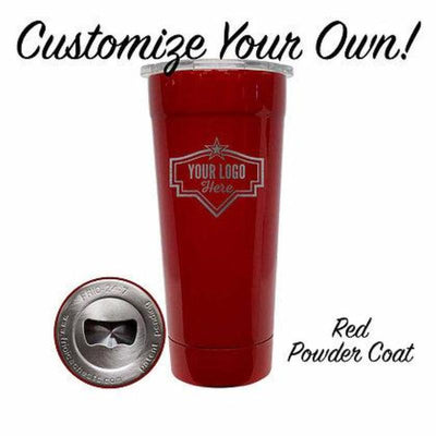 Custom Laser Engraved Frio 24-7 Cup w Powder Coat (Click to See More Options) - Frio Ice Chests