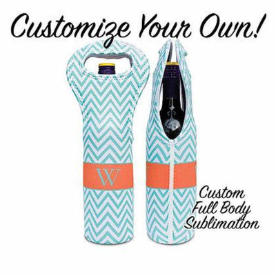 Custom Wine Tote w/ Full Body Sublimation - Frio Ice Chests