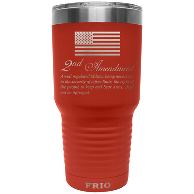Frio Label Series 30oz- Red w/ USA Flag & 2nd Amendment Theme