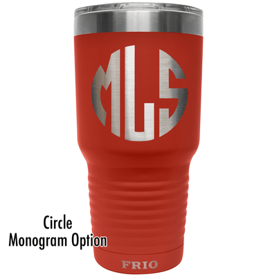 Add Your Monogram on a Frio 30oz Cup - Circle