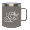 Frio 14 Oz Y'ALL Stainless Steel Mug