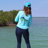 Frio Long Sleeve Mahi Mahi Design - Arctic Blue