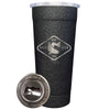 24-7 Powder Coated Stainless Steel Tumbler - Splatter Black - CCA ATX