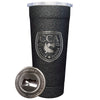 24-7 Powder Coated Stainless Steel Tumbler - Splatter Black - CCA Austin Chapter