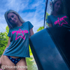 Ladies X-Treme Tek Heather Tee S/S with Pink Frio Logo