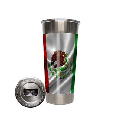 Frio 24-7 Cup w/ Bottle Opener and 3M Vinyl Wrap- Mexican Flag - Frio Ice Chests