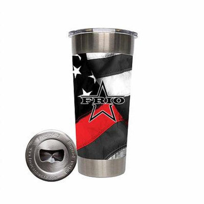 Frio 24-7 Cup w/ Bottle Opener and 3M Vinyl Wrap- Thin Red Line USA