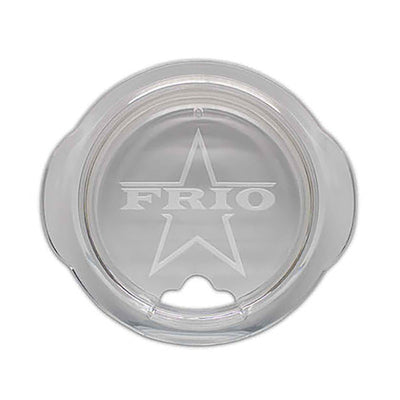 Frio 24-7 Cup w/ Bottle Opener and Leather Wrap- Cognac/Duck Badge - Frio Ice Chests