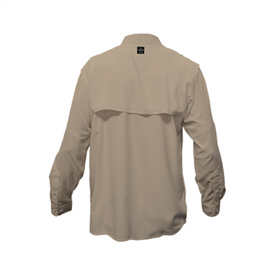 Frio Long Sleeve Fishing Shirt-Khaki - Frio Ice Chests