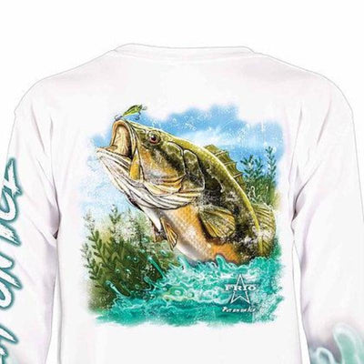 Frio Performance L/S Fishing Shirt w/ Bass Art - Frio Ice Chests