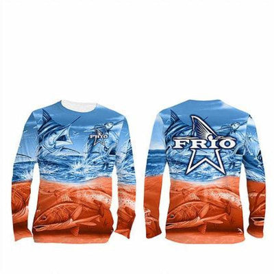 Frio Performance L/S Fishing Shirt w/ Saltwater Art - Frio Ice Chests
