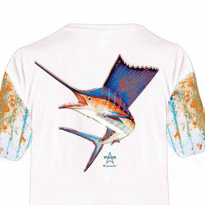 Frio Performance S/S Fishing Shirt w/ Marlin Art - Frio Ice Chests