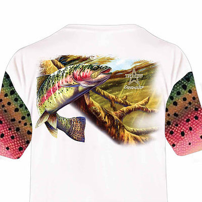 Frio Performance S/S Fishing Shirt w/ Salmon Art - Frio Ice Chests